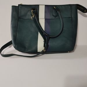 Steve Madden Green and Navy Blue Tote Bag